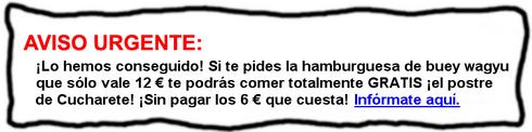 Hamburguesa exclusiva de buey wagyu con un súper postre GRATIS en Madrid - © Cucharete.com