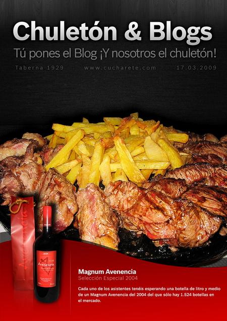 Cartel finalista en el Chuletón & Blogs