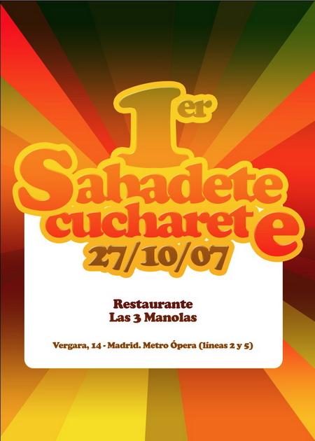Cartel finalista en el I Sabadete de Cucharete