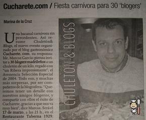 Chuletón & Blogs en los Medios