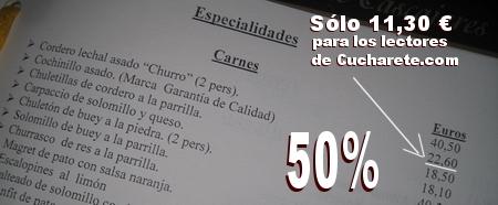 Cochinillo a mitad de precio en el Restaurante El Senador de Madrid - © Cucharete.com