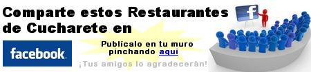 Comparte los restaurantes para grupos de Cucharete con tus amigos de Facebook!