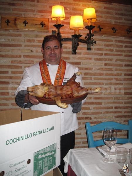 COCHINILLO PARA LLEVAR del Restaurante EL SENADOR - Recomendado para tu Cena de Navidad en Madrid