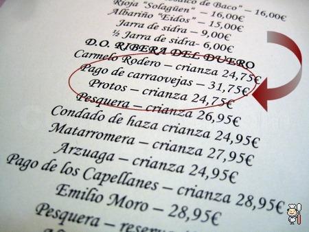 Botella de Pago de Carraovejas en Zarracín - © Cucharete.com