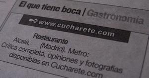 Cucharete.com en el Diario de Alcalá