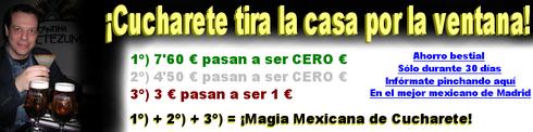 ¡Espectacular promoción de Cucharete en la Cantina Moctezuma de Madrid! - © Cucharete.com