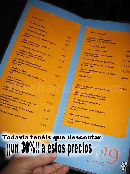 30% de descueto en toda la carta en Madrid - © Cucharete.com