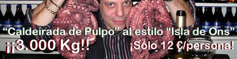 3.000 Kg de pulpo en el Restaurante Micota - © Cucharete.com