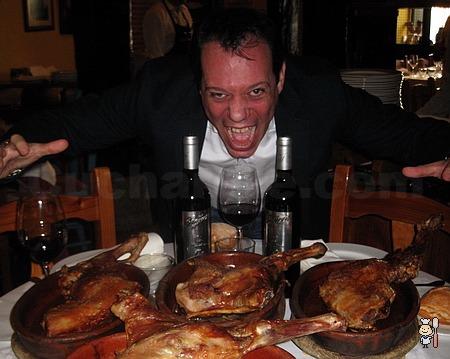 Cordero lechal asado a mitad de precio en el Restaurante El Senador de Madrid - © Cucharete.com