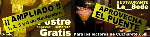 Promoción: Postre Especial Cucharete Gratis - © Cucharete.com