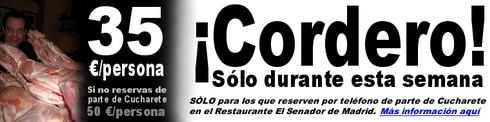 Cordero asado a precio impresionante en el Restaurante El Senador de Madrid - © Cucharete.com