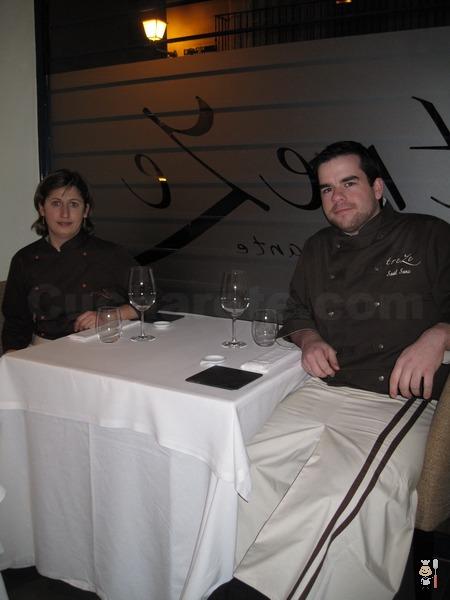 Saúl Sanz y Elena Ursu - Chefs del Restaurante Treze (Madrid) - © Cucharete.com