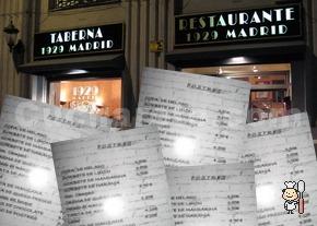 Renovación de la carta del Restaurante Taberna 1929 - © Cucharete.com